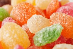 Sugar candies in different colors Royalty Free Stock Image