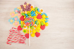 Candies with different shapes and colors Stock Photos