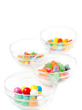 Candies in dishes royalty free stock photography