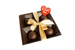 Candies in a gift with love Stock Images