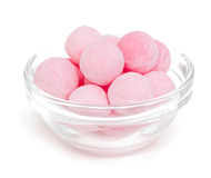 Candies in a glass bowl Stock Images