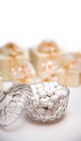 Candies in a glass bowl Royalty Free Stock Photo