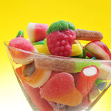 Candies in a glass Stock Image