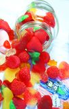 Candies in glass jar Royalty Free Stock Photos