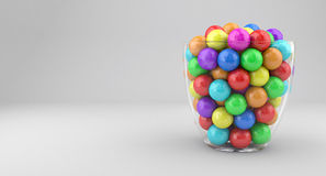 Candies in glass vase Royalty Free Stock Photography