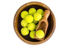 Candies gum balls in shape of tennis balls. Studio Photo stock photos
