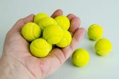Candies gum balls in shape of tennis balls. Studio Photo royalty free stock image