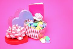 Candies in heart shape Stock Images