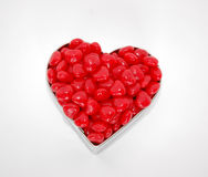 candies heart shaped royaltyfria bilder