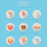 Candies Infographics Royalty Free Stock Photos
