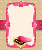 Candies invitation background. Vector illustration. Pink and brown Royalty Free Illustration