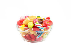Candies isolated in white background Stock Images