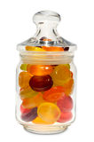 Candies in a jar with lid Stock Photos