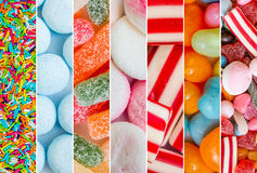 Candies and jellies Stock Images