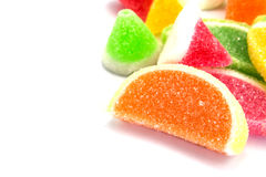 candies. jelly candies in plate on a background. Stock Image