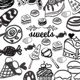 Candies line icons set ,  illustration, sweetest day. PRINT Royalty Free Stock Images