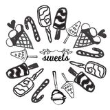 Candies line icons set ,  illustration, sweetest day Stock Images