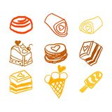 Candies line icons set ,  illustration, sweetest day. PRINT Royalty Free Stock Image