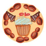 Candies line icons set ,  illustration, sweetest day. PRINT Royalty Free Stock Photo
