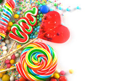 Candies and lollipops Stock Photography