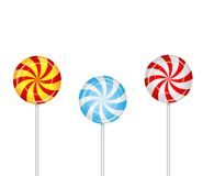 Candies lollipops on a white background Royalty Free Stock Photography