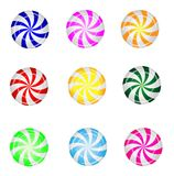 Candies lollipops on a white background. Vector  illustration Royalty Free Stock Photos