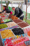 Candies on a marlet stall Stock Photos