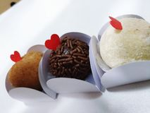 Brazilian Brigadeiros chocolate truffles candy party stock images