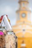 Candies Portal and Public Clock Tower. In Cartagena de Indias Stock Photos