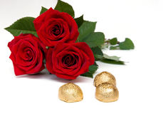 Candies and roses Royalty Free Stock Photo