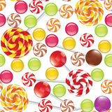 Candies seamless background Royalty Free Stock Image