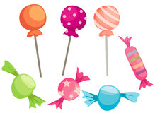 Candies set Royalty Free Stock Photo