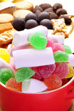 Candies and some typical christmas sweets in Spain like turron a Royalty Free Stock Image