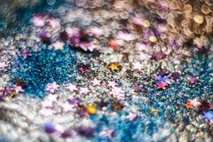 candies, sparkles and sparkling dust, texture of a bright blurred spark background, blur, for background and design, stock photo