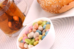 Candies and sweet cake Royalty Free Stock Image