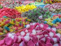 Candies. Sweet candies at the market Royalty Free Stock Photos