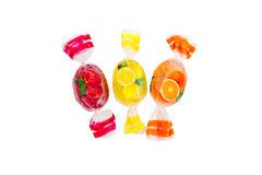 Candies, sweet set. Candies set isolated on a white background. Fruit candies royalty free stock photos