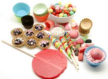 Candies and sweets Royalty Free Stock Photo