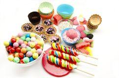 Candies and sweets Stock Images