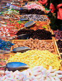 Candies and Sweets in a Italian Market Royalty Free Stock Image