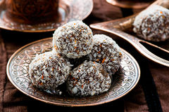 Candies truffles. selective focus Stock Photo