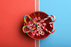 Candies with valentine heart sign Stock Photography