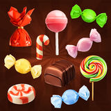 Candies vector icons Royalty Free Stock Photos