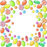 Candies. Vector image of colorful fruit candies Royalty Free Stock Photography