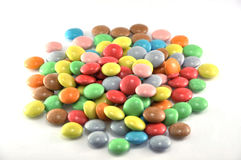 Candies on white Stock Photos