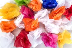 Candies with the wrapped in the colorful paper. Royalty Free Stock Image