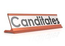 Canditates-Tabellenumbau Lizenzfreies Stockfoto