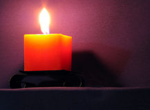 Candle. Night Royalty Free Stock Photos