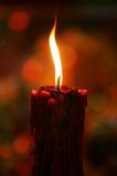 Candle. A candle is lighted during prayer stock photo