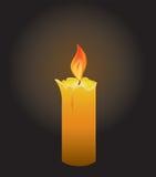 Candle. Burning candle on a black background, illustration Royalty Free Stock Photo